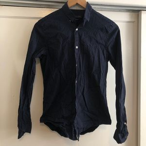 Zara Blue Starry Night Dress Shirt